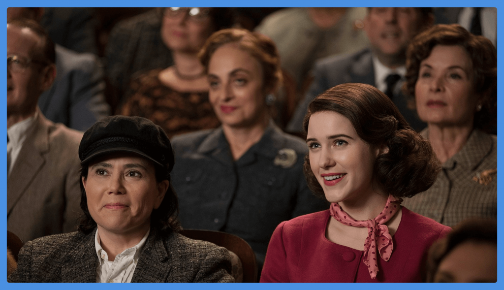 mrs-maisel-brosnahan-borstein-perfect gifts for tv lovers
