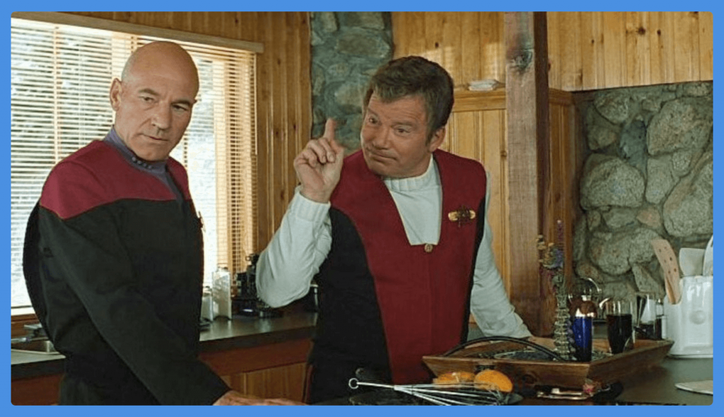 star-trek-generations-captain-kirk-picard-movie themed costumes for groups