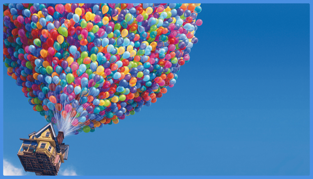 up-balloons-house-pixar-ideas for family movie night at home